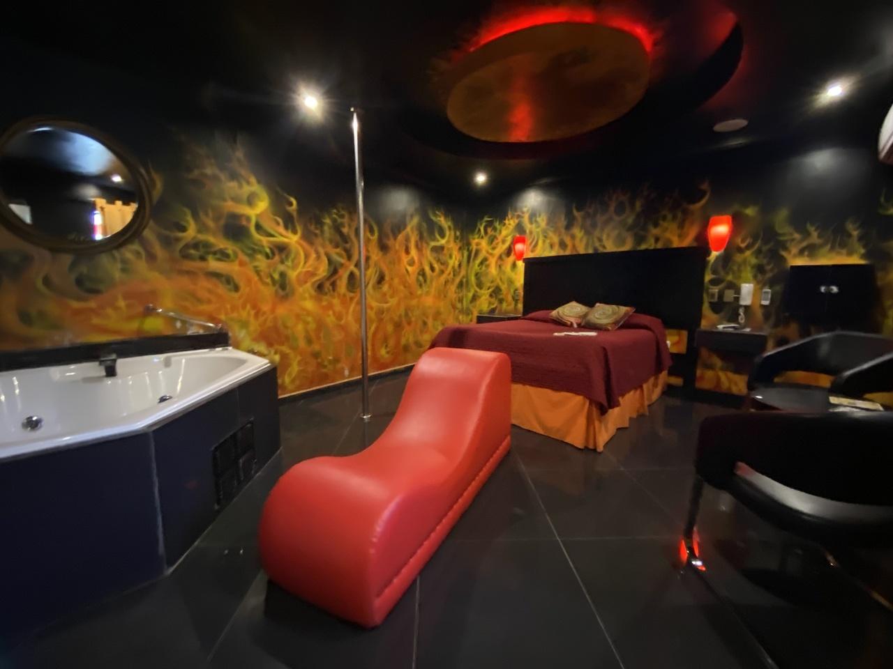 Habitación Jacuzzi VIP con Diván en Amapola Peñaflor : MotelNow